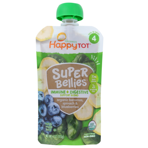 Happytot - super bellies spinach 4 oz
