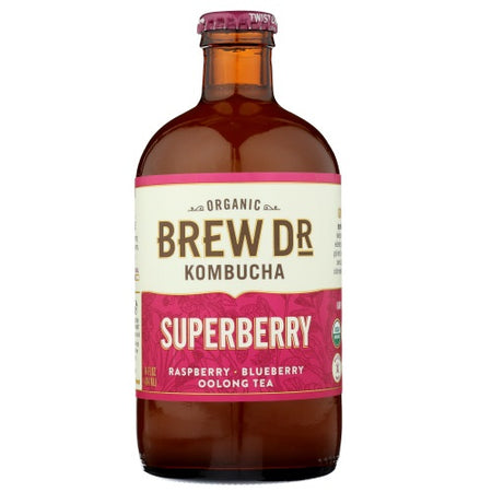 Brew Dr. - Superberry Kombucha - 14oz
