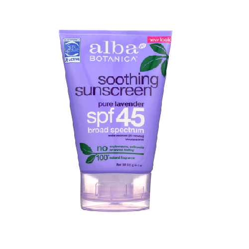 Alba sunscreen lavender 30spf 4oz