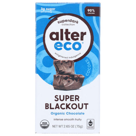 Alter Eco - Chocolate Bar Super Blackout - 2.82 OZ