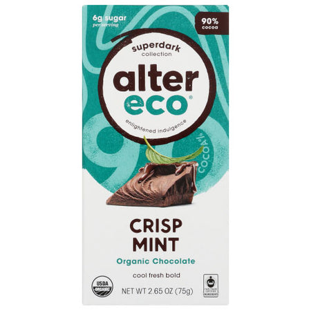 Alter Eco - Chocolate Bar Dark Mint - 2.82 OZ