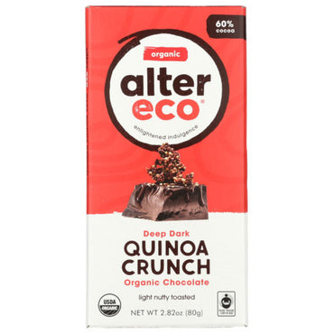 Alter Eco - Chocolate Bar Dark Quinoa - 2.82 OZ