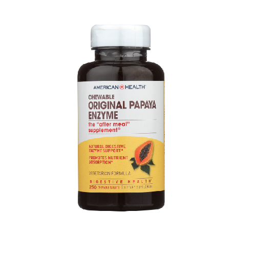 american health papaya enzyme 250 tab