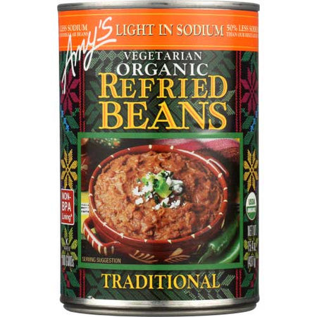 Amys - Bean Refried Traditional LS - 15.4 OZ