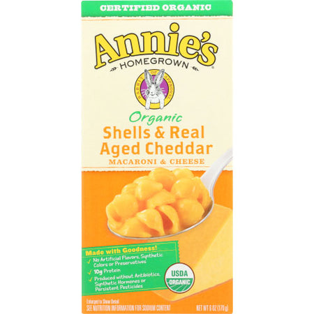 Annies Homegrown - Mac & Cheese Cheddar - 6 OZ