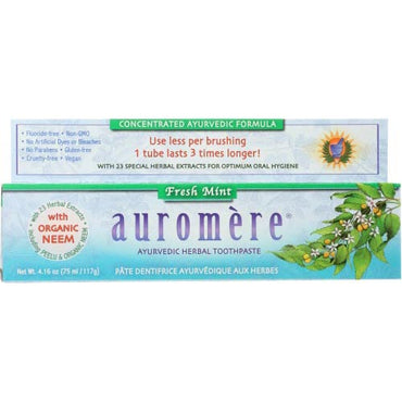 Auromere - Toothpaste Fresh Mint - 4.16 OZ