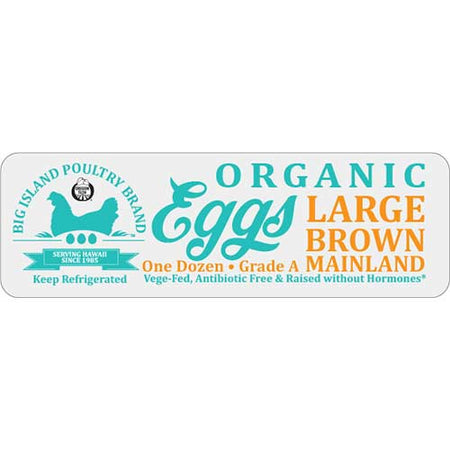 Big Island Poultry - Large Brown Eggs - 1 Dozen