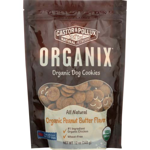 Castor & Pollux - Dog Treat Cookie Peanut Butter - 12 OZ