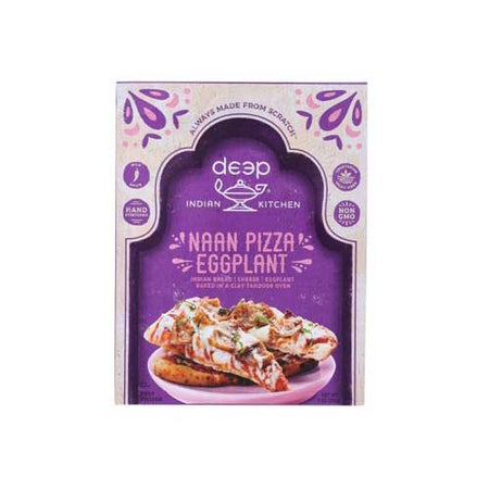 Deep Indian Kitchen - Frozen Pizza Naan Eggplant - 8.4 OZ