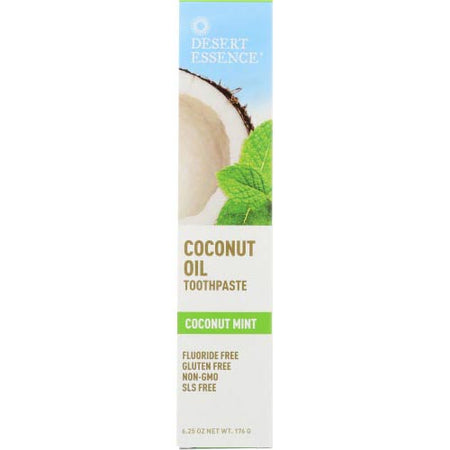 Desert Essence - Toothpaste Coconut Oil - 6.25 OZ