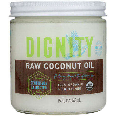 Dignity Coconuts - Oil Coconut Raw Virgin - 15 OZ