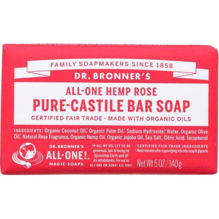 Dr Bronner - Soap Bar Rose - 5 OZ