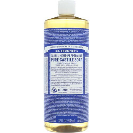 Dr Bronner - Soap Liquid Peppermint - 32 OZ