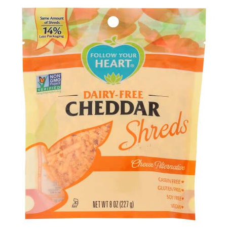Follow Your Heart - Vegan Cheese Cheddar Shredded - 8 OZ