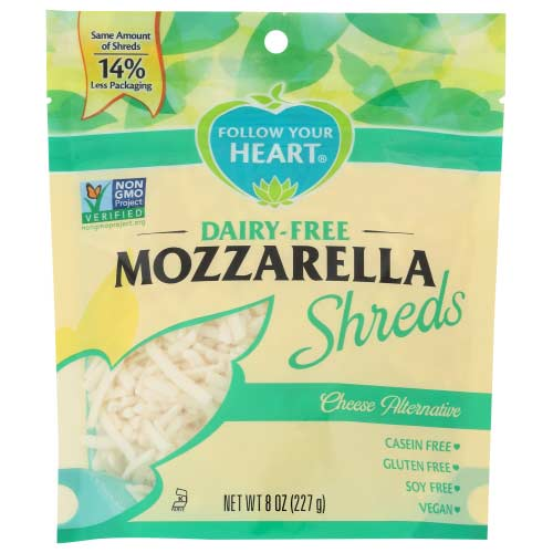 Follow Your Heart - Vegan Cheese Mozzarella Shredded - 8 OZ