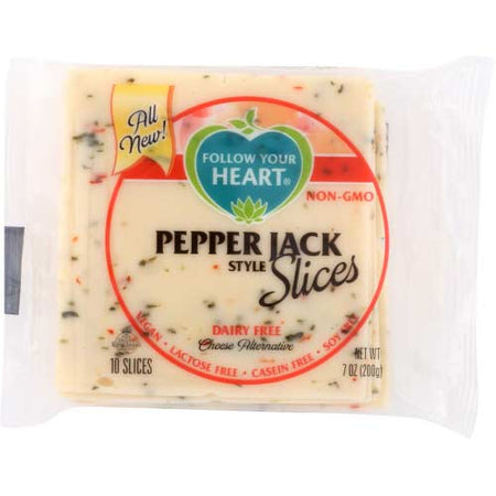 Follow Your Heart - Vegan Cheese Pepper Jack Slices - 7 OZ
