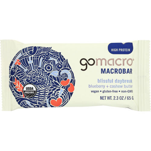 Gomacro - Bar Blueberry & Cashew Butter - 2.3 OZ