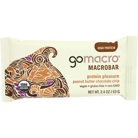 Gomacro - Bar Chocolate Chip Peanut Butter - 2.3 OZ