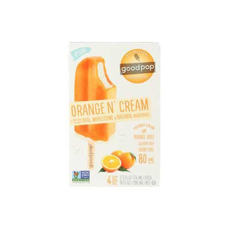 GoodPops - 4pc Orange N Cream Bars - 10oz
