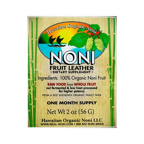 Hawaii Organic Noni - Noni Fruit Leather - 2 oz