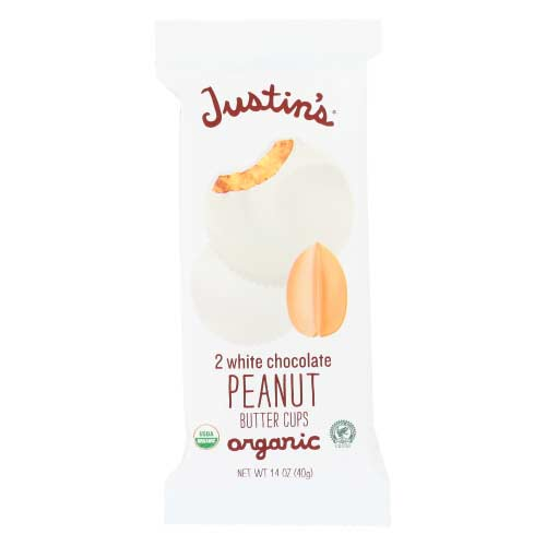 Justins - Chocolate Cup Peanut Butter White - 1.4 OZ