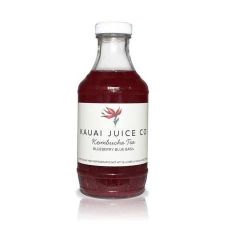Kauai Juice Co - Kombucha Blueberry Basil - 16oz