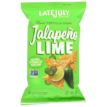 Late July - Chip Tortilla Jalapino Lime - 5.5 OZ