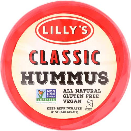 Lillys - Hummus Plain Original - 12 OZ