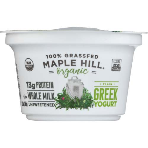 Maple Hill Creamery - Yogurt Greek Plain Grassfed - 5.3 OZ
