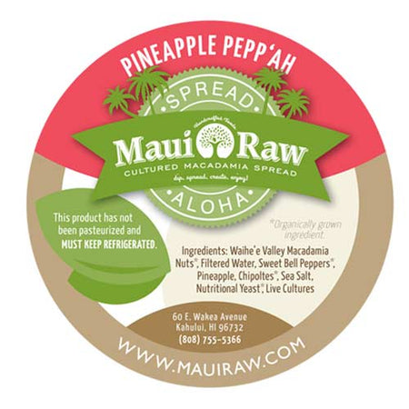 Mauiraw - Macadamia Spread Pineapple & Pepper - 6oz