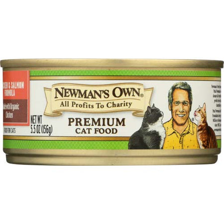 Newmans Own Organic - Cat Food Chicken Salmon - 5.5 OZ