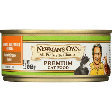Newmans Own Organic - Cat Food Turkey & Vegetable - 5.5 OZ