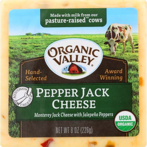 Organic Valley - Cheese Block Pepper Jack - 8 OZ