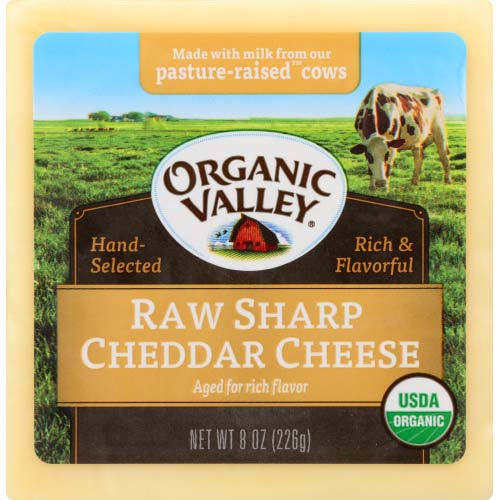 Organic Valley -  Raw Cheese Block Cheddar - 8 OZ