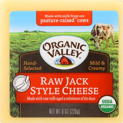 Organic Valley - Raw Cheese Block Jack - 8 OZ