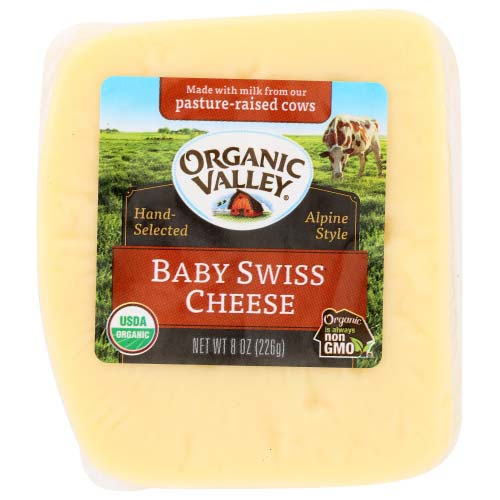 Organic Valley - Cheese Block Swiss - 8 OZ