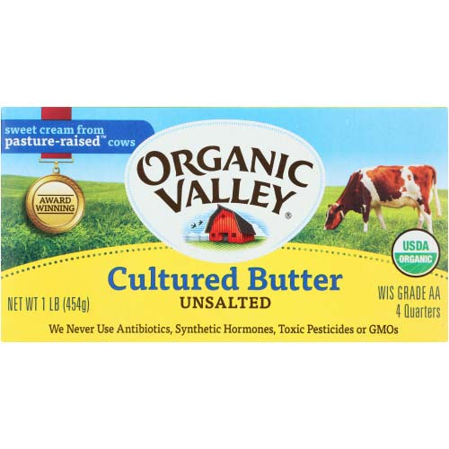 Organic Valley - Butter Unsalted - 16 OZ