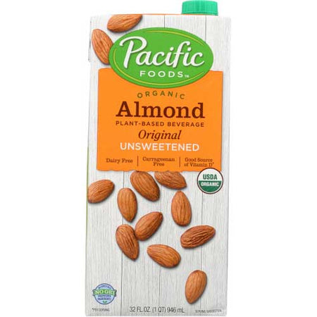 Pacific Foods - Milk Almond Unsweetened Original - 32 OZ