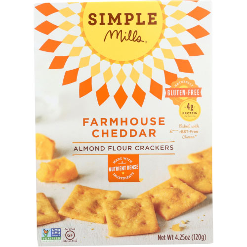 Simple Mills - Cracker Almond Flour Sharp Cheddar - 4.25 OZ