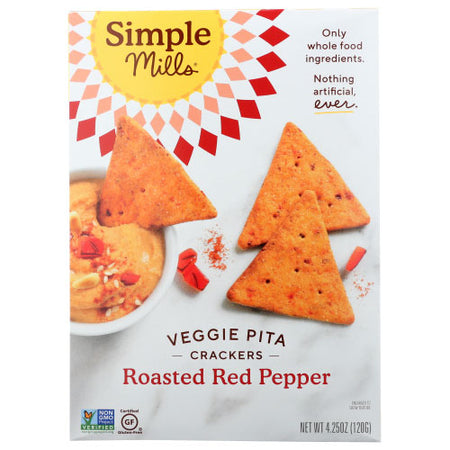 Simple Mills - Cracker Pita Roasted Red Pepper - 4.25 OZ