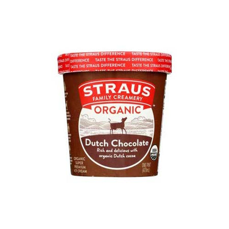 Straus - Ice Cream Chocolate Org - 1 PT