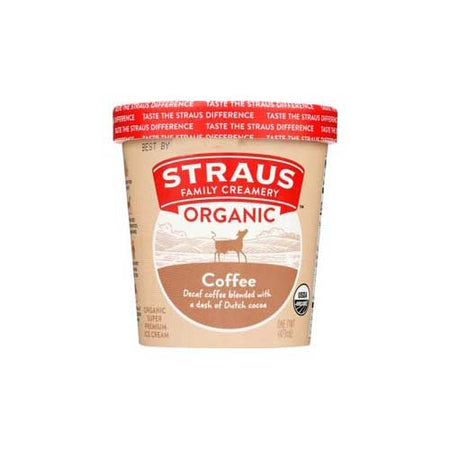 Straus - Ice Cream Coffee Org - 1 PT
