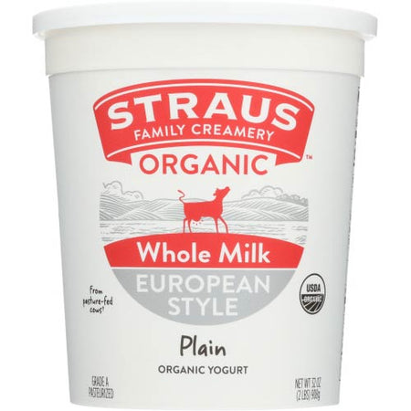 Straus - Yogurt Plain - 32 OZ