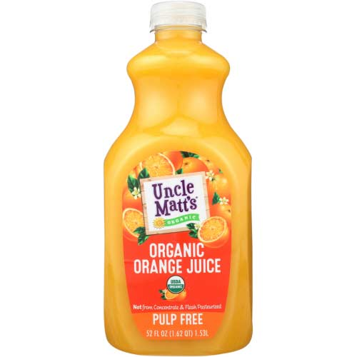 Uncle Matts Organic - Juice Orange Pulp Free - 52 OZ