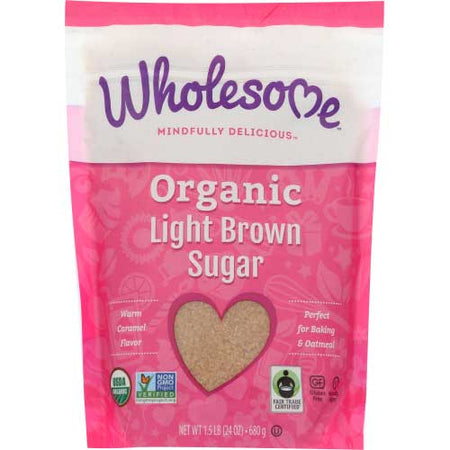 Wholesome - Sugar Brown Light - 24 OZ