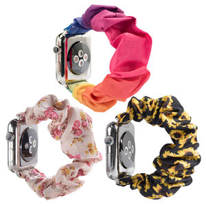 Scrunchie Elastic Watch Band For Apple Sunflower Scrunchie Watch Band