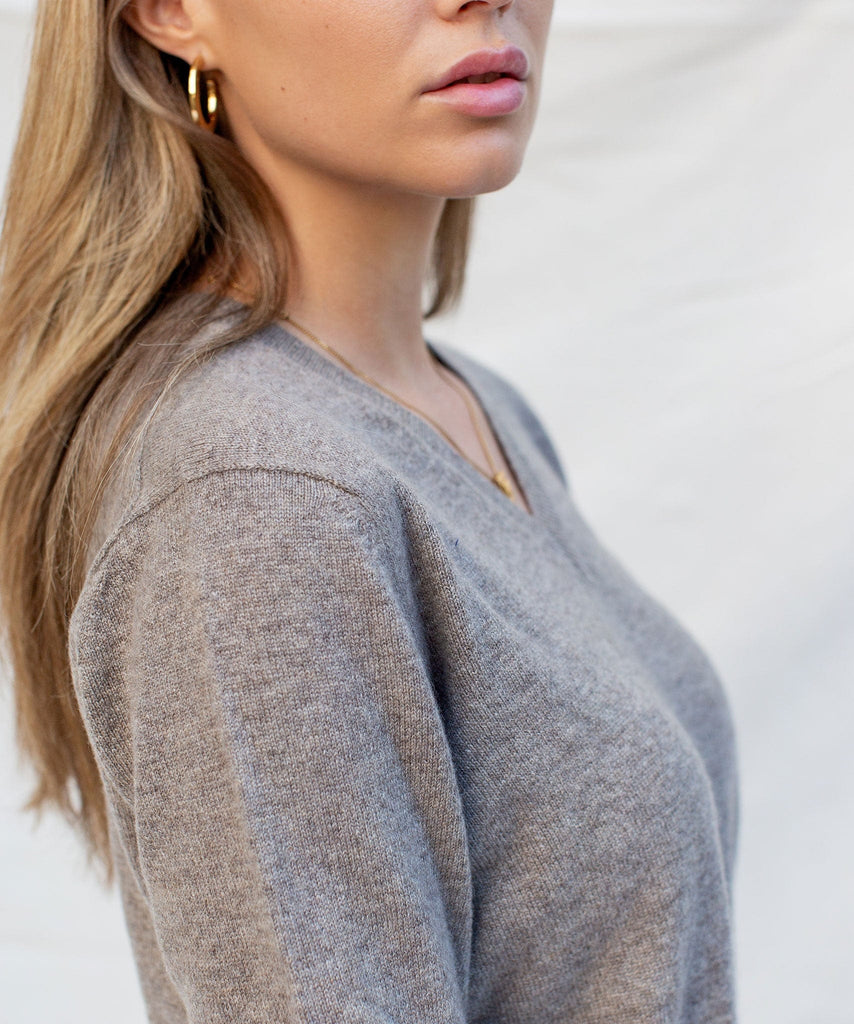 Made To Order Cashmere V-Neck Sweater