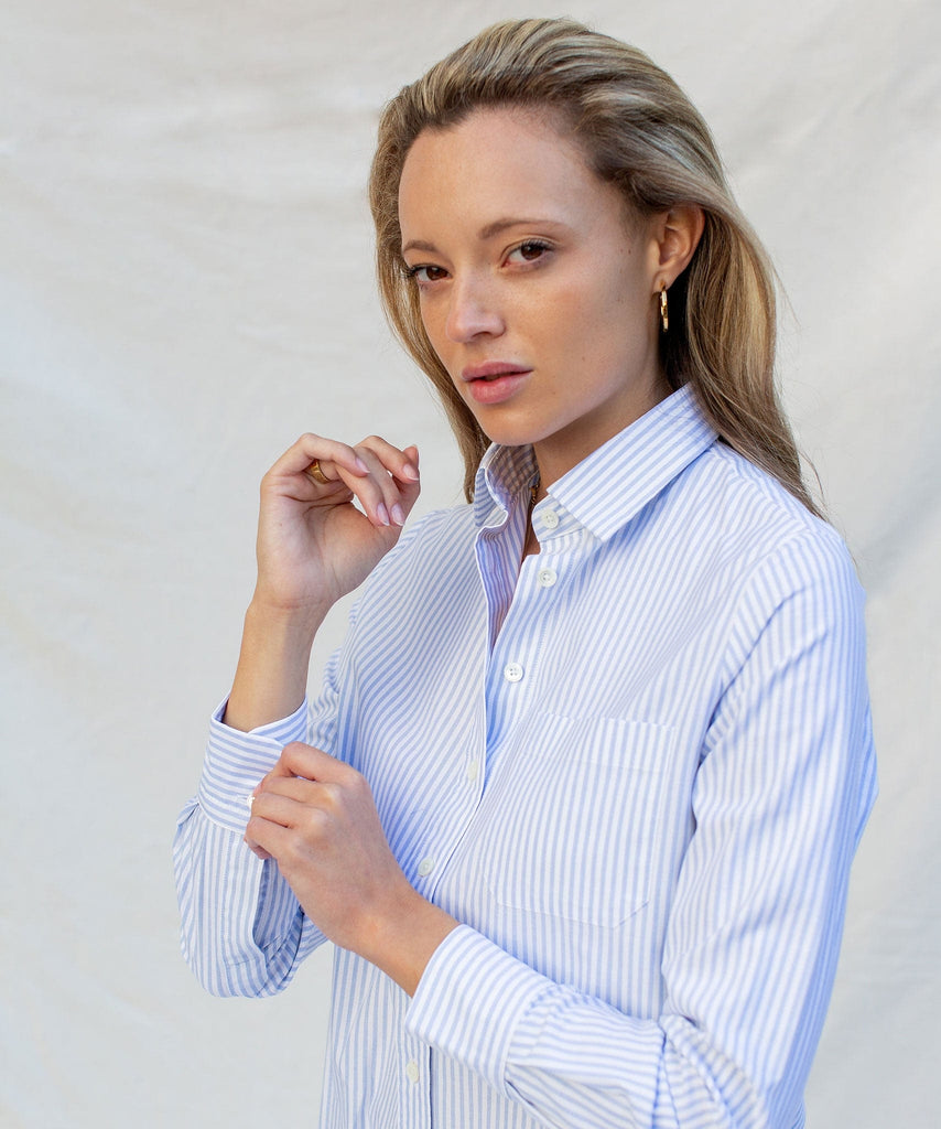 Relaxed Casual Oxford Stripe Shirt