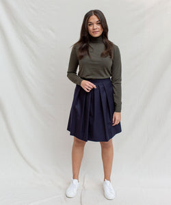 Pleated Flanell Skirt