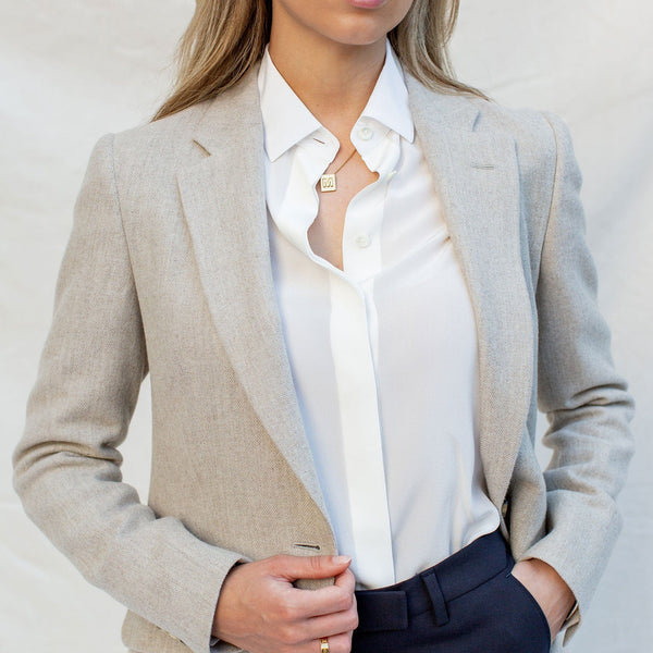 Relaxed Flannel Blazer